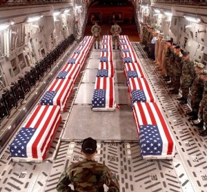 U.S. Soldiers who were promised that they would be greeted as Liberators. This as U.S. lies and War Crimes murdered 1,000,000 Iraqi's. This is the U.S.'s Humanitarian Aid at its finest.
